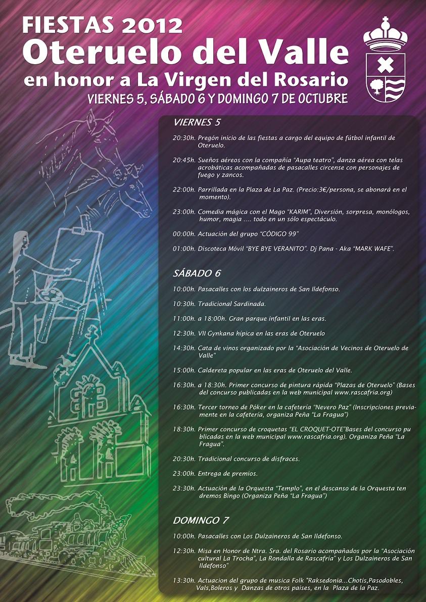 cartel fiestas oteruelo 2012